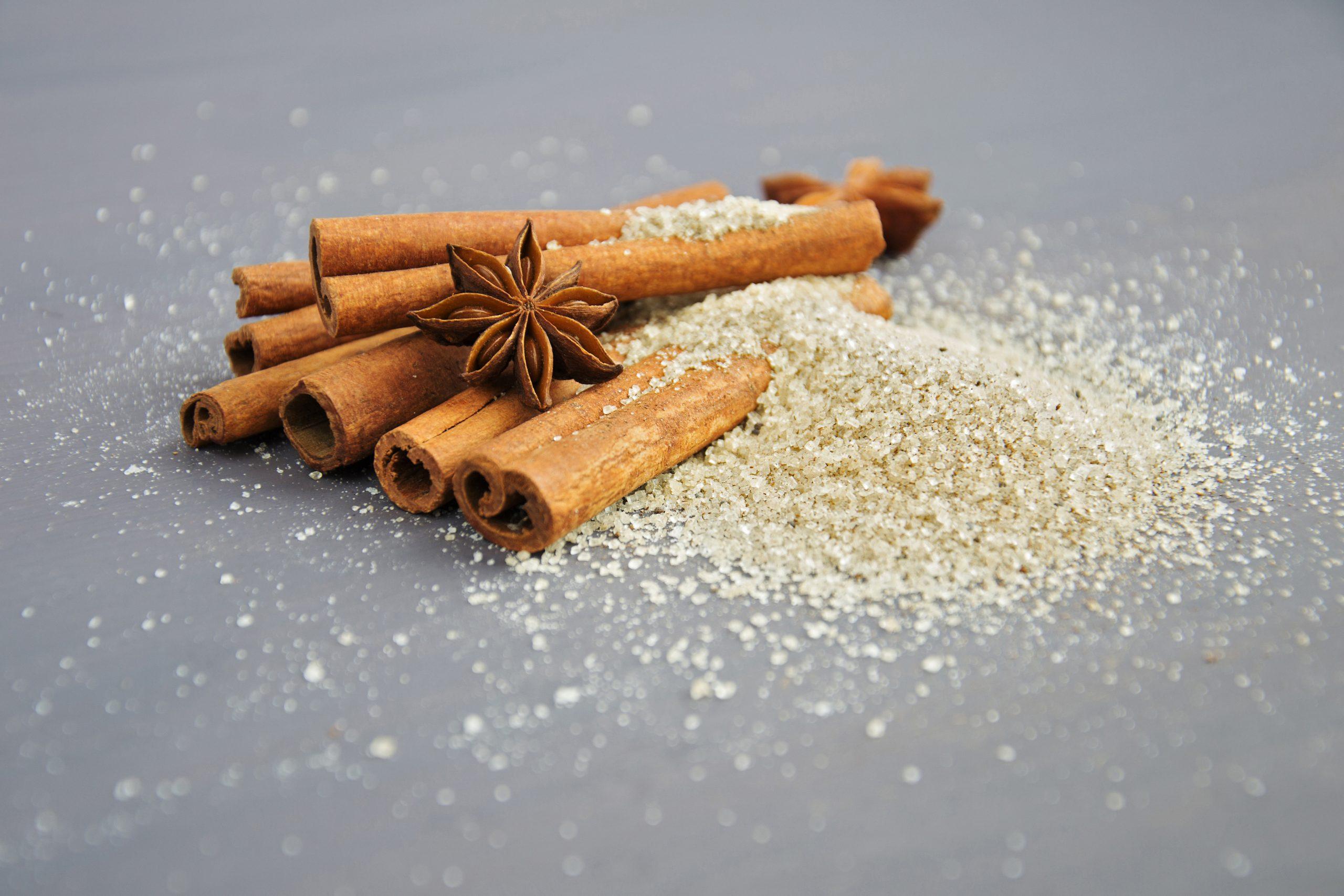 Cinnamon and sugar; balancing blood sugar levels.