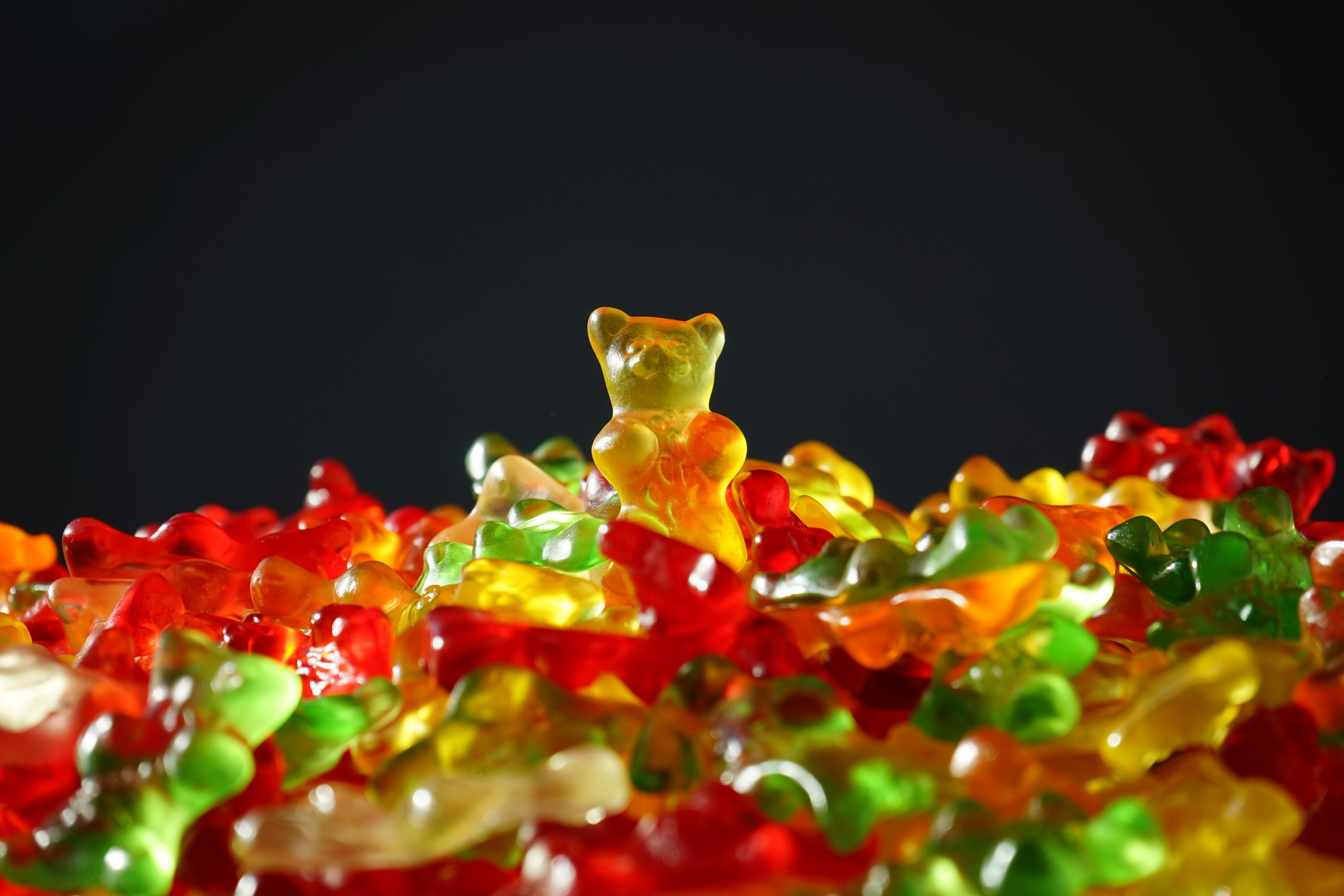 Gummy bears as an example of artificial sweeteners.