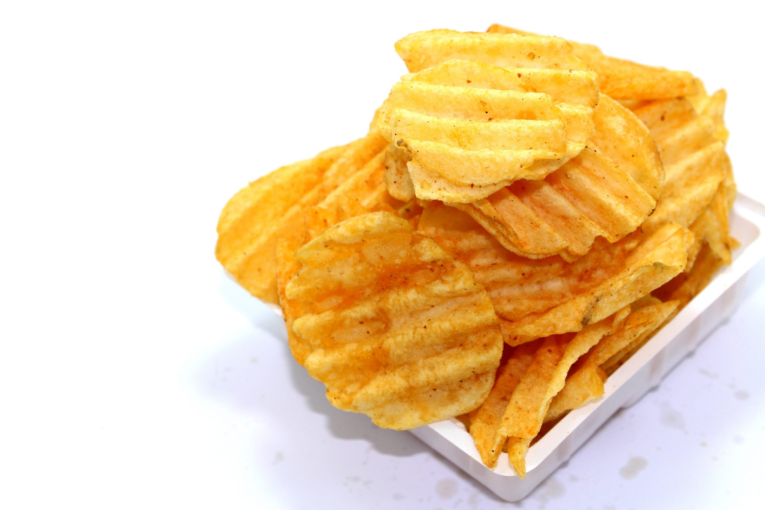 Potato chips as an example of bad gut habits.