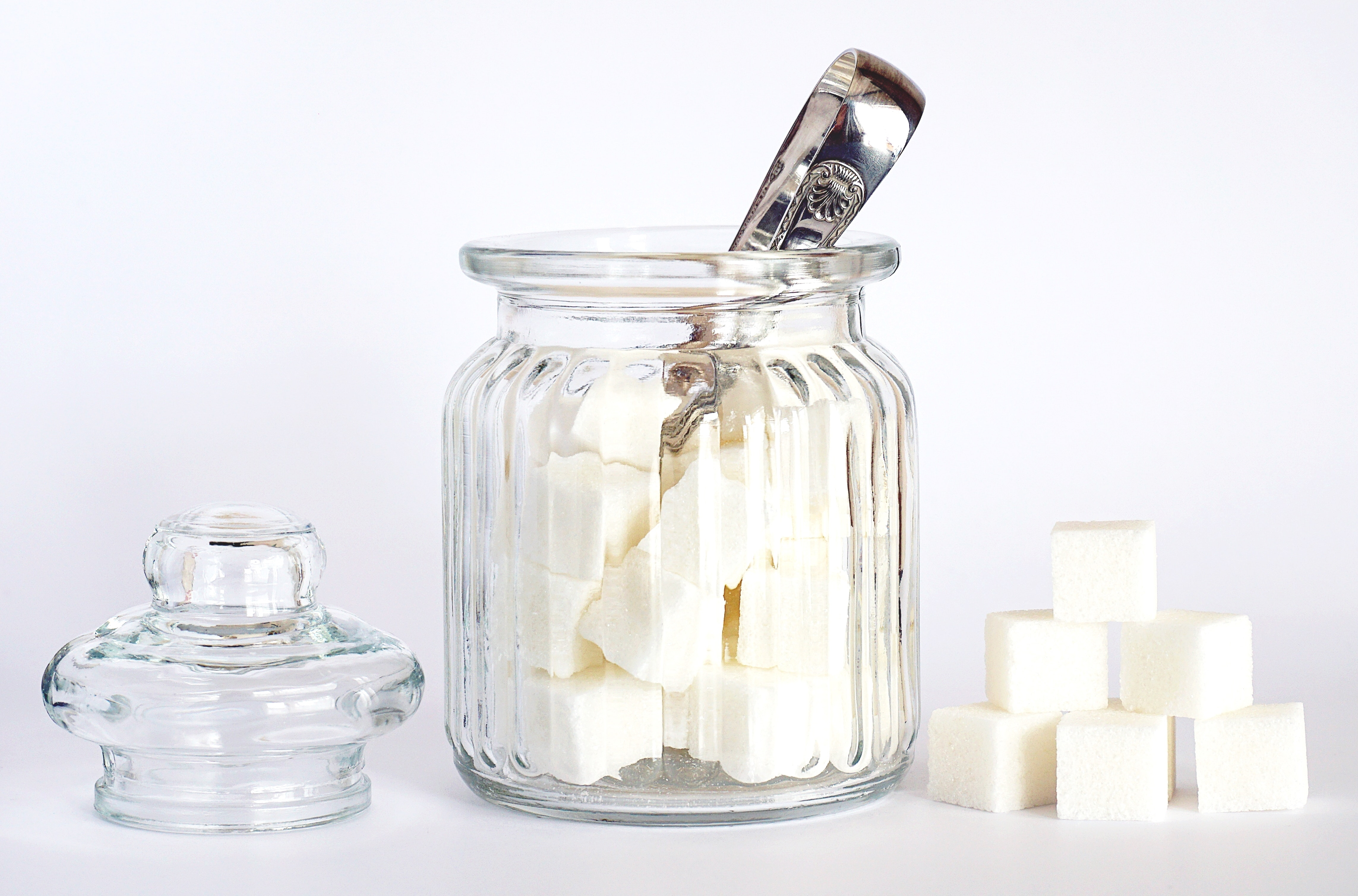 Sugar cubes as an example of what may contribute to the development of diabetes.