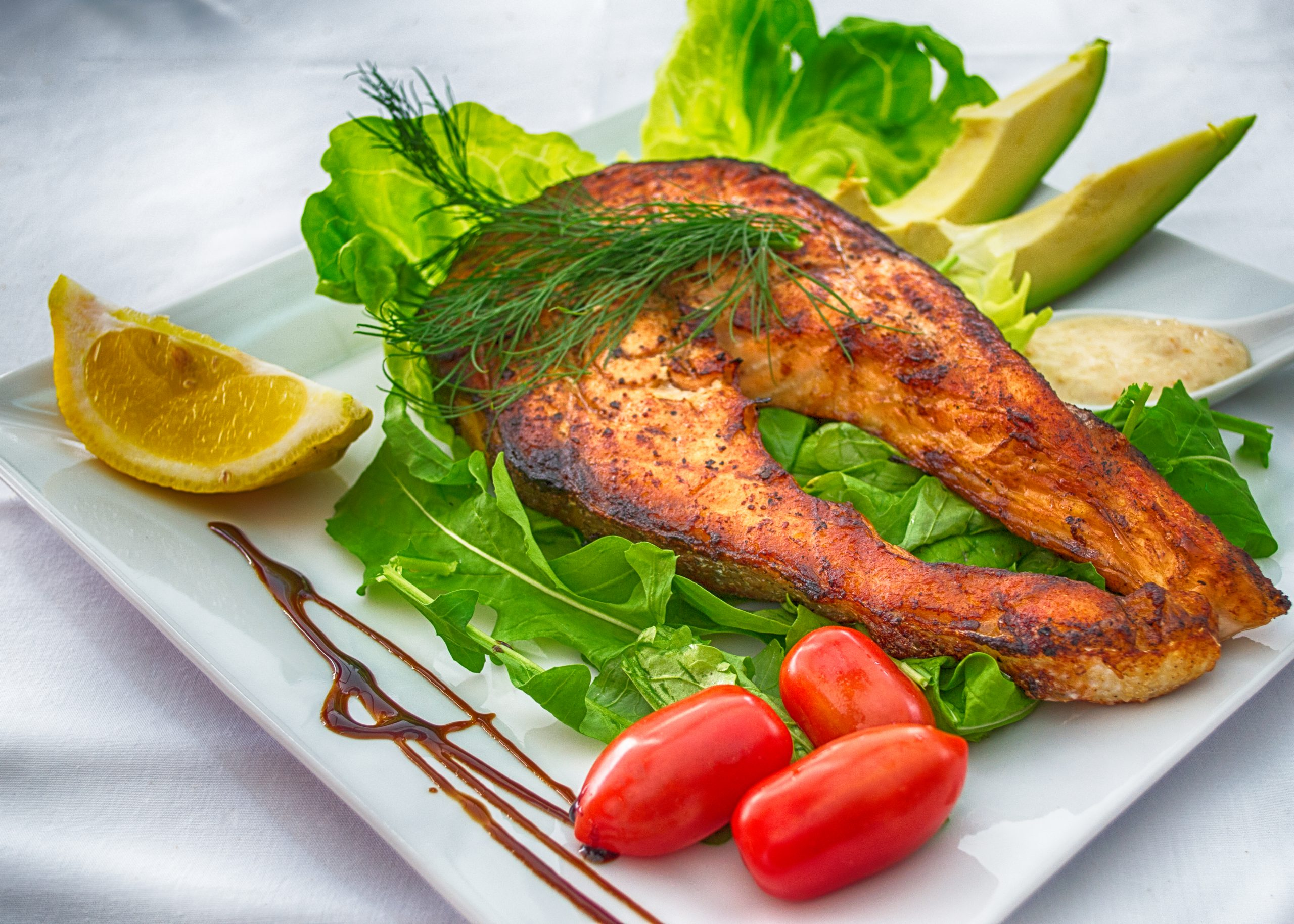 Fish and vegetables; hyperthyroidism and hypothyroidism.